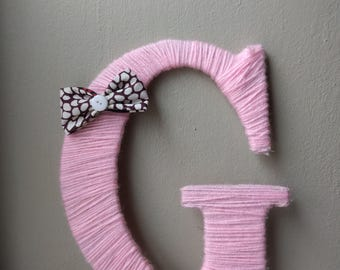 Yarn Wrapped Letter G