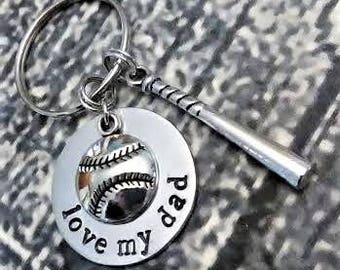 Fathers Day Keychain, Baseball Keychain, Baseball Dad Keychain, Dad, Gifts for Dad, Gifts for Him, Baseball Dad, Sports Dad Keychain, Coach