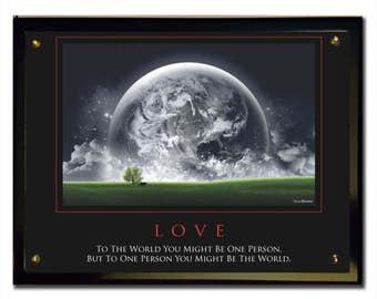 Love (World) Plaque