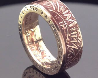 France 10 Franc Coin Ring (1974-1987)