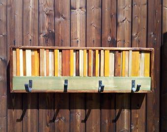Wall art, rustic coat rack