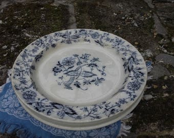 Spero W.A.A&Co.blue and white platter