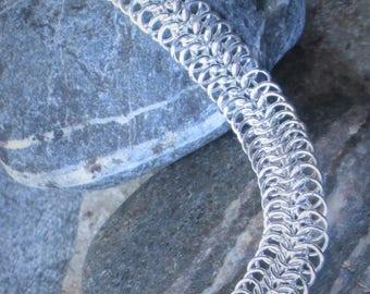 Sterling Silver European 4 in 1 Weave Bracelet