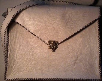 Handbag, leather handstitched
