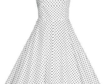 Ladies Retro Style Square Neck Empire Waist  Swing Dress Party Dress 3 colour