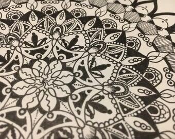 Flower inspired mandala