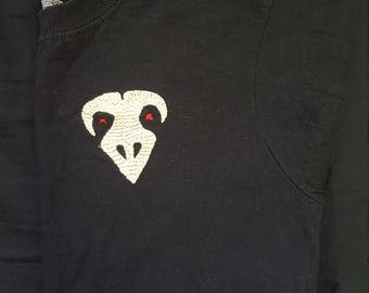 Embroidered Crow Skull Tshirt