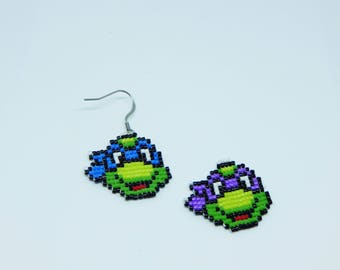 TMNT Ninja turtles - color choice-earring