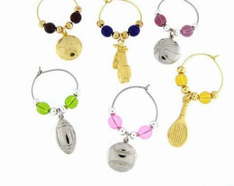 Sports Drink Charms, Wine Glass Charms