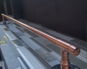 Copper Pipe Towel Rack - Easily mounts to wall