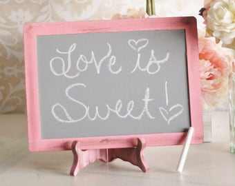 Wedding Chalkboard Sign & Easel Set by Steven and Rae Designs Shabby Chic (item P10221)