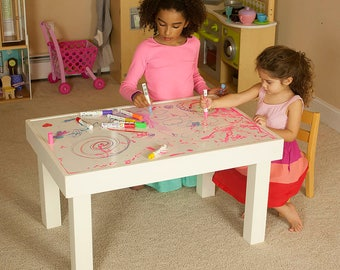 Childrens Dry Erase Craft Table