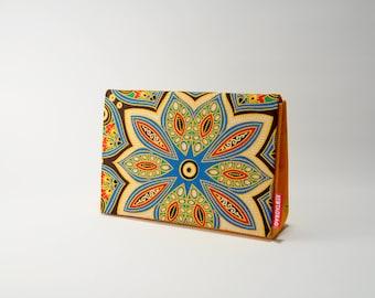African Wax Print Clutch Handbag