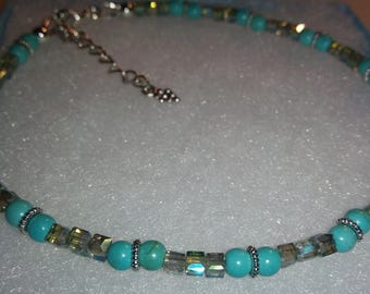 Bejeweled Turquoise Anklet