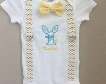 Embroidered Easter onesie.