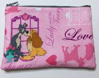 Lady and the Tramp Cosmetic / Makeup / Pencil Bag