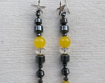Gemstone earrings-natural