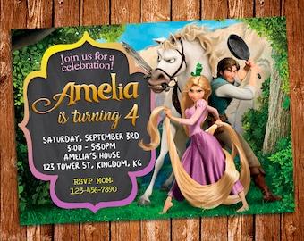 Tangled Invitation, Rapunzel Invitation, Tangled Birthday Invitation, Princess Rapunzel, Rapunzel Invite, Rapunzel Birthday, Rapunzel Prints