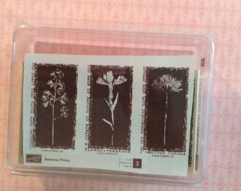 Stampin Up retired Reverse Print