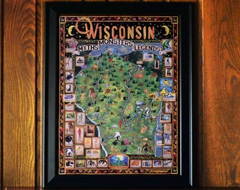 Wisconsin Monsters Myths and Legends Poster