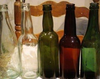 c1900-1920s 5 Misc Beer and Soda Bottles set