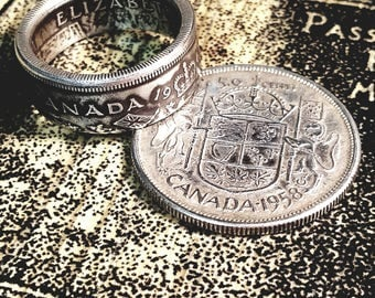 Foreign Silver Coin rings