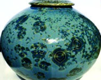 Crystalline Pottery Sky Blue Vase