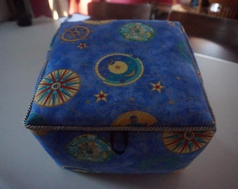 Nautical map fabric box