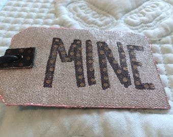 MINE Handpainted Embellished Luggage Tag