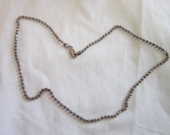 Vintage Italian Sterling Silver Ball Link Chain Necklace 16 inch