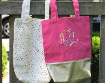 Monogrammed Canvas Tote, Personalized Canvas Tote, Monogrammed Bag, Bridesmaid Gift, Canvas Tote, Canvas Bag, Sorority Gift, Gifts For Her