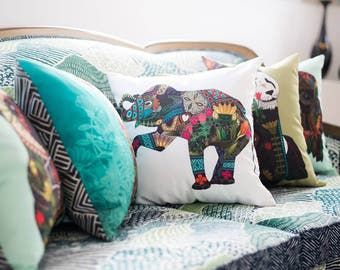 Eco-Canvas Faux Down Graphic Designer Pillows