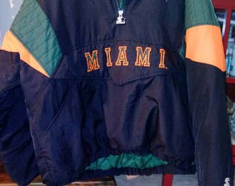Final markdown. EXCELLENT CONDITION. Vintage Miami Hurricanes Starter Jacket early 1990s, from a smoke-free home