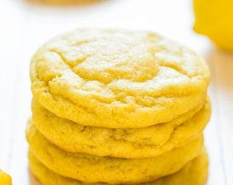 Sugar-Free Lemon Creme Cookies, diabetic friendly