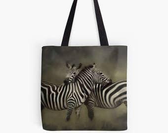 Zebra Love in a tote bag