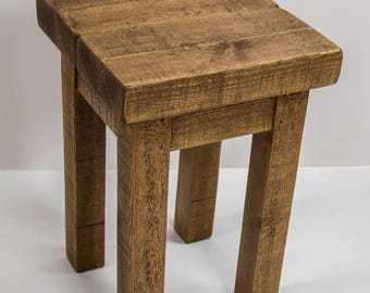 Rustic wooden side tables, plant stand, bedsides, Solid wood, Medium oak finish, Worldwide shipping (free P+P to UK Mainland t&cs apply)