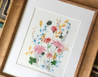 Floral Watercolor Giclee Print
