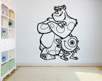 Wazowski Sullivan Wall Image Monsters Inc Wall Vinyl Decal Walt Disney  Vinyl Poster Home Interior Decor Part 94