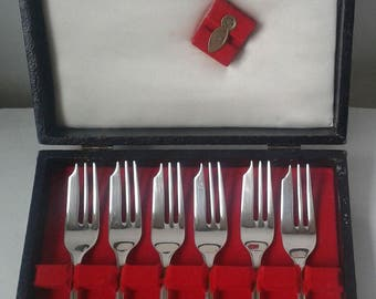 Silver plate cake forks