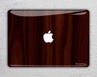 Wood MacBook Decal Wood MacBook Skin Wood MacBook sticker Dark Wood texture MacBook pro MacBook Air MacBook Sticker Decal 13 15 11 12 FSM024