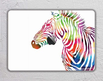 zebra macbook skin  animal macbook decal  watercolor macbook sticker Art Painting macbook cover macbook pro skin macbook air 13  FSM154