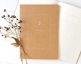 A5 Kraft Notebook[Journal] / Stitch Notebook / 09-n
