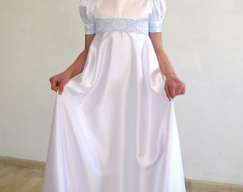 Dress for girl with embroidery. Dress for the holiday. Dress for the First sacrament