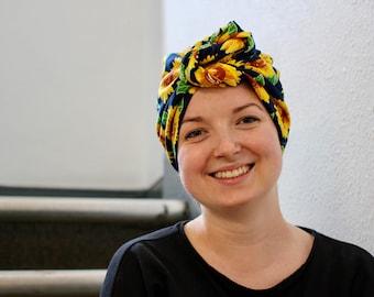 Soft Cotton Headscarf - Sunflower Power