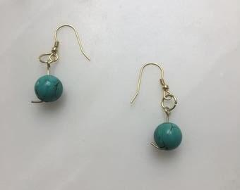 Blue Splattered Earrings