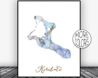Kiribati Print, Kiribati Art Print, Home Decor, Kiribati Map Art, Wall Prints, Wall Art, Home Wall Decor, Living Room Decor, ArtPrintsZoe