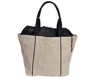 Shopper BOER #10, natural flax