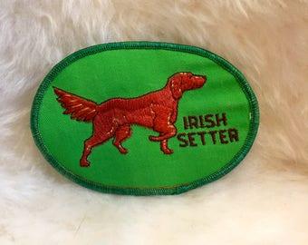 Vintage Irish Setter Dog Patch