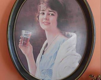 Vintage Coca Cola Oval Serving Tray