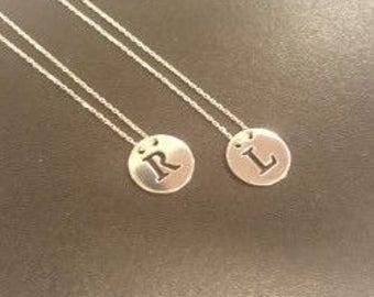 Trailer, letters, silver, silver pendant, pendant chain necklace